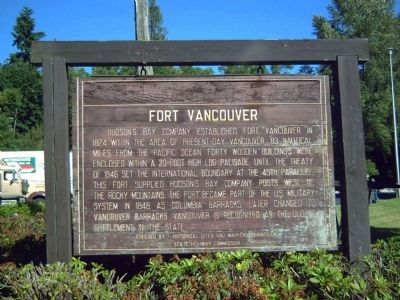 Fort Vancouver Marker image. Click for full size.