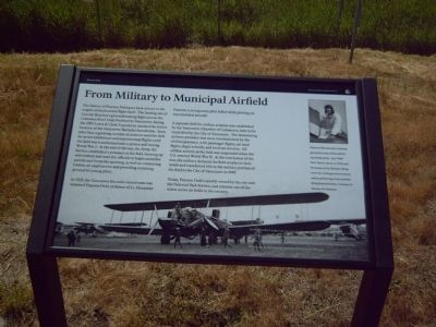From Military to Municipal Airfield Marker image. Click for full size.