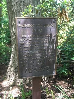 Washington Spring Marker Photo, Click for full size