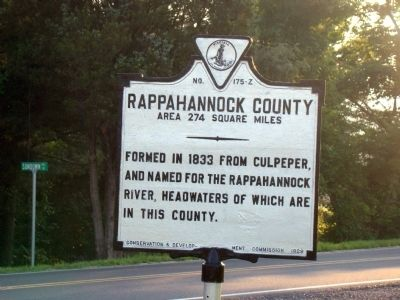 Rappahannock County Face of Marker image. Click for full size.