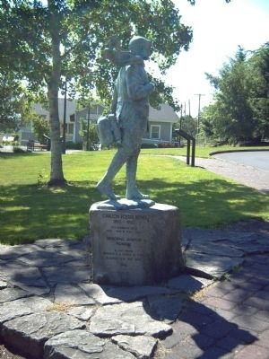 Carlton Foster Bond Statue and Marker image. Click for full size.