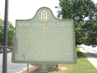 Noon Under the Trees Marker image. Click for full size.