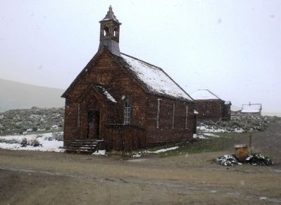 Bodie Methodist Church, constructed in 1882 image. Click for full size.