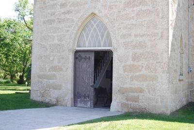 Front door of church image. Click for full size.