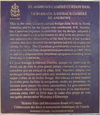 St. Andrews Caméré Curtain Dam Marker image. Click for full size.
