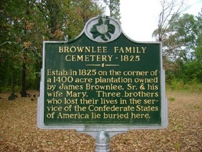 Brownlee Family Cemetery Marker image. Click for full size.