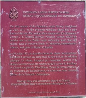 Dominion Land Survey System Marker image. Click for full size.