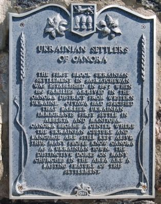 Ukrainian Settlers of Canora Marker image. Click for full size.