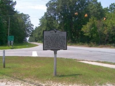 Tillman Marker at the intersection of U.S. Route 321 and South Carolina State Route 336 image. Click for full size.