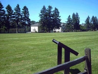 Vancouver Barracks Parade Ground and Marker image. Click for full size.