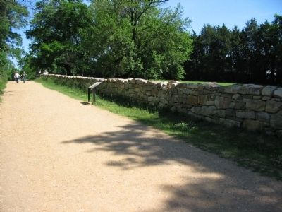 The Union Attacks Begin Marker along the Sunken Road image. Click for full size.