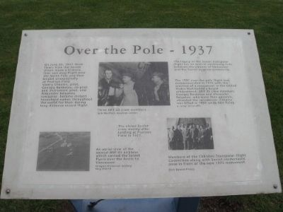 """Over the Pole"" marker originally located here Photo, Click for full size"