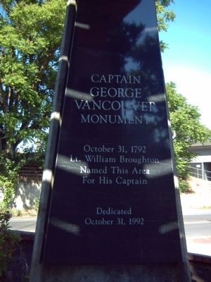 Captain George Vancouver Monument Marker image. Click for full size.