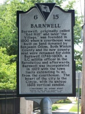 Barnwell Marker image. Click for full size.