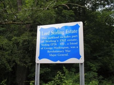 Lord Stirling Estate Marker image. Click for full size.