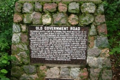 Old Government Road Marker Photo, Click for full size