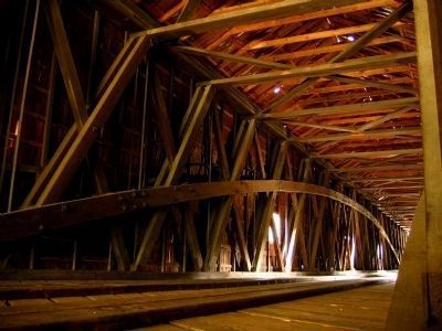 View inside the Bridgeport Covered Bridge Photo, Click for full size