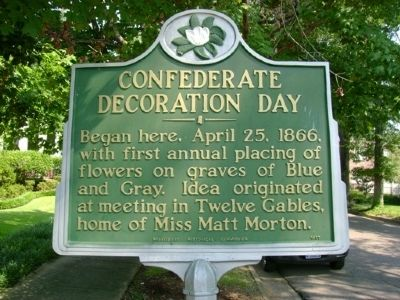 Confederate Decoration Day Marker image. Click for full size.