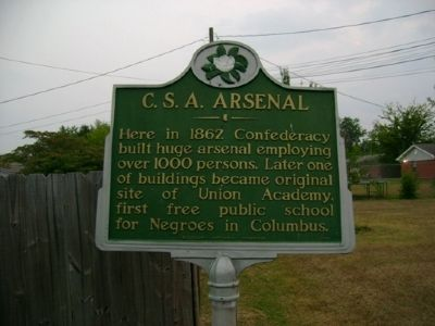 C.S.A Arsenal Marker image. Click for full size.