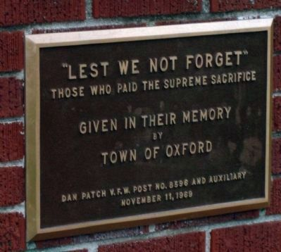 Lest We Not Forget Marker Photo, Click for full size