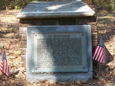 In Memoriam Marker and the Stoney Tomb image. Click for full size.