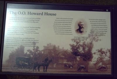 The O. O. Howard House Marker image. Click for full size.