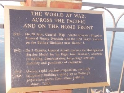 Bolling Air Force Base Marker - Panel 8 Photo, Click for full size