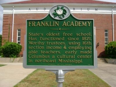 Franklin Academy Marker image. Click for full size.