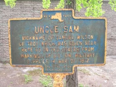Uncle Sam Marker - Troy, New York image. Click for full size.