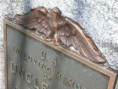 Uncle Sam Grave Side Monument - Detail Photo, Click for full size