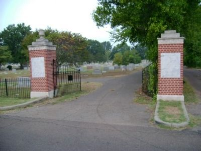 Friendship Cemetery Gate image. Click for full size.