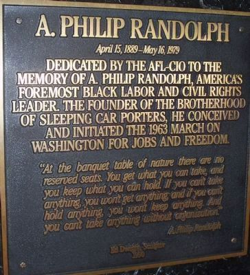 Tribute to A. Philip Randolph Photo, Click for full size