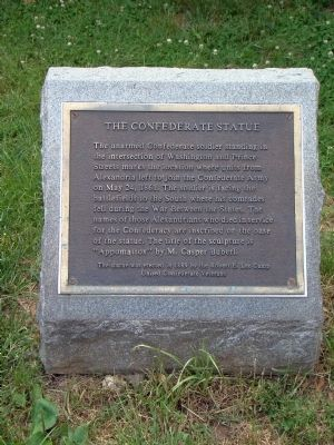 The Confederate Statue Marker Photo, Click for full size
