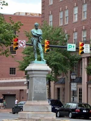 The Confederate Soldier Observes the Traffic on Washington Street Photo, Click for full size
