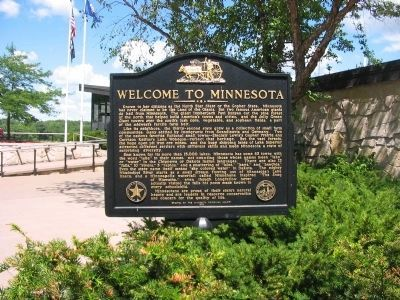 Welcome to Minnesota Marker image. Click for full size.
