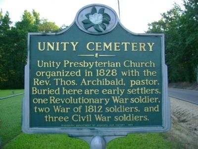 Unity Cemetery Marker image, Click for more information