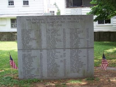 Memorial in Cemetery image. Click for full size.