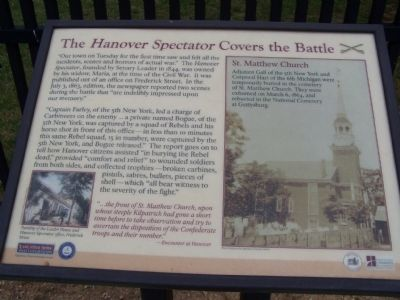 The Hanover Spectator Covers the Battle Marker image. Click for full size.