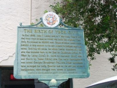 The Birth Of Ybor City Marker image. Click for full size.