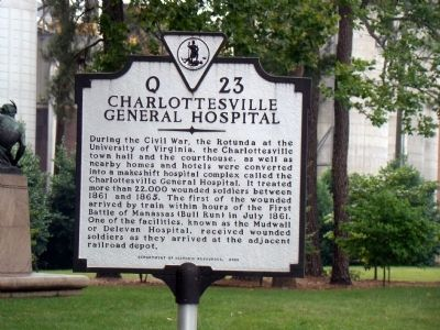 Charlottesville General Hospital Marker image. Click for full size.
