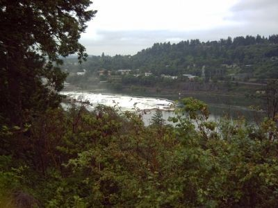 View of Willamette Falls from the rest area. image. Click for full size.