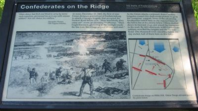 Confederates on the Ridge Marker image. Click for full size.