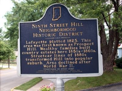 Ninth Street Hill Marker </b>(front) image. Click for full size.