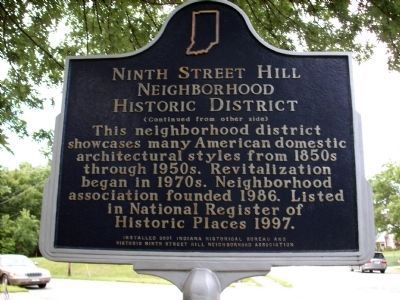 Ninth Street Hill Marker </b>(reverse) image. Click for full size.