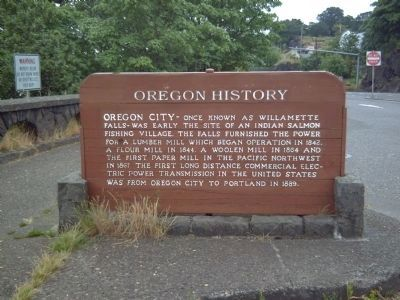 Oregon City Falls Marker image. Click for full size.