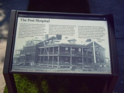 The Post Hospital Marker image. Click for full size.