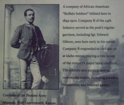Sergeant Edward Gibson, Company B, 24th Infantry image. Click for full size.