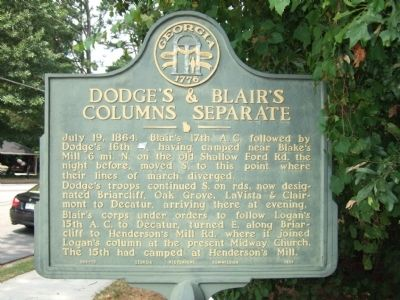 Dodge's & Blair's Columns Seperate Marker image. Click for full size.