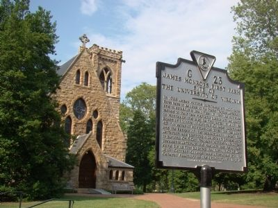 University of Virginia's Chapel and Marker image. Click for full size.