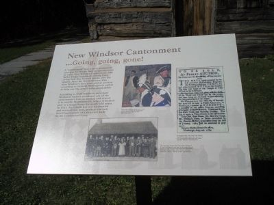 New Windsor Cantonment Marker image. Click for full size.
